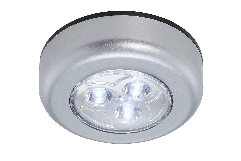 Briloner Leuchten - 054, lámpara LED Luz Descendente, - Fregadero (5 unidades, inalámbrico, incluye adhesivos, función de encendido/apagado mediante drückfu ...