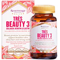 Reserveage, Tres Beauty 3, Beauty Supplement for Hair, Skin and Nails with Collagen...
