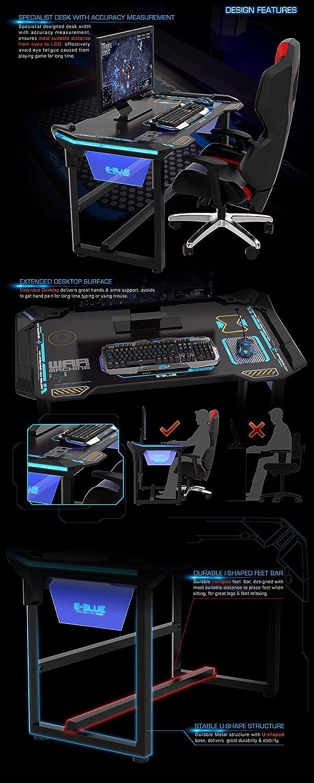 E-Blue Estados Unidos inalámbrico Glowing LED mesa de escritorio ...