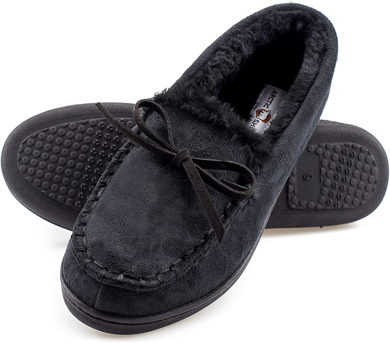 Plush Fur Moccasin Slippers