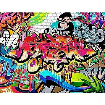 Fototapete Graffiti Streetart Vlies Wand Tapete Wohnzimmer Schlafzimmer  Büro Flur Dekoration Wandbilder XXL Moderne Wanddeko