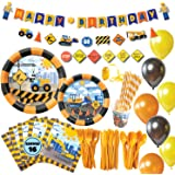Whoobli Construction Birthday Party Supplies for Boys, Complete Dump Truck Construction Party Supplies with Birthday…