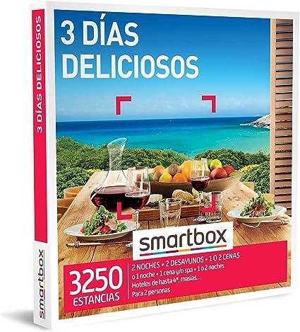 SMARTBOX - Caja Regalo - 3 días deliciosos - Idea de Regalo - 1-2 Noches, Desayuno y Cena o 1 Noche, Desayuno, Cena y SPA o 1-2 Noches con Desayuno para 2 Personas: Amazon.es: Deportes y aire libre