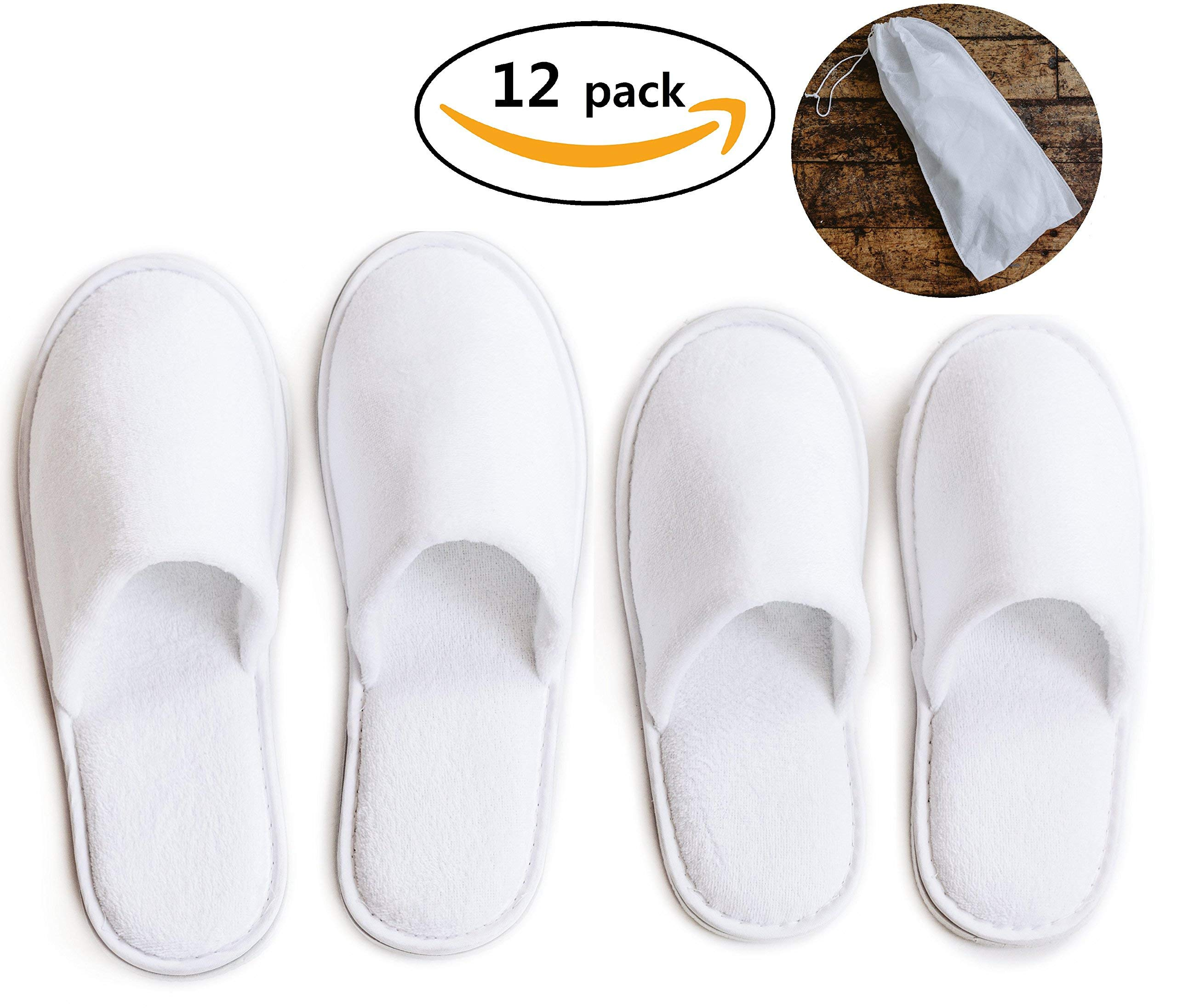 5791a3cf673a Modlux spa slippers pairs of cotton velvet closed toe slippers with travel  bags jpg 2560x2193 Cloded