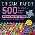 """Origami Paper 500 Sheets: Rainbow Patterns 6"""" (15 cm)"""