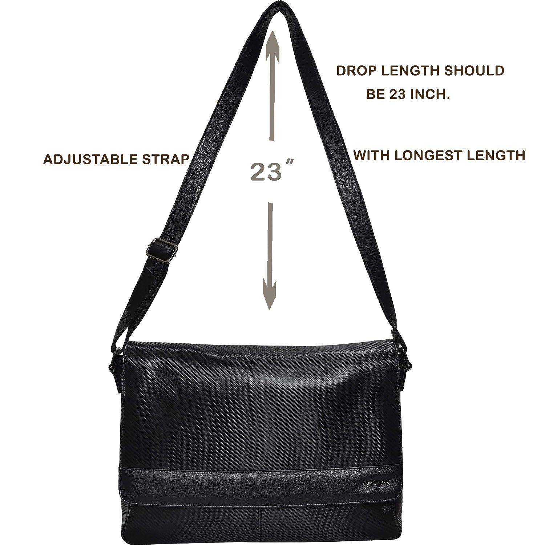 Leather Laptop Messenger Bag for Men Premium Office Tan Briefcase 13 MacBook Professional College Mens Womens Side Bags