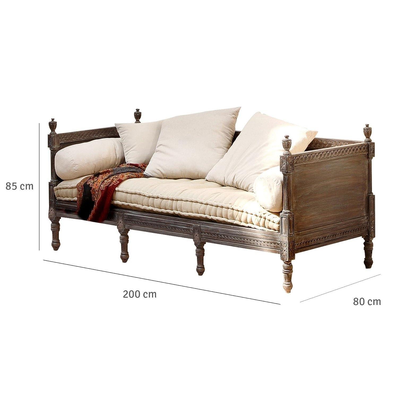 LOBERON Orientalisches Sofa Douville mit Ornamentalen Schnitzereien ...