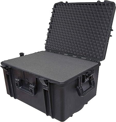 R/ésistant aux chocs /équipement de plong/&eacut Pour ext/érieur /Étui de protection /étanche IP67 en plastique rigide Adapt/é aux t/él/éphones Avec poign/ée de transport Grande taille mousse