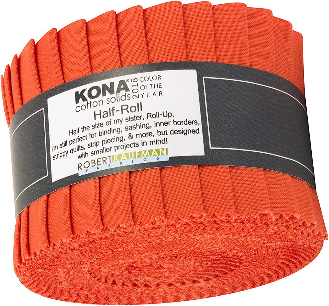 20 Strips Kona Cotton Orange 2.5-inch Pre Cut Quilting Strips Jelly Roll Fabric
