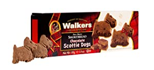 Walkers Shortbread Scottie Dog Shaped Shortbread Cookies, 3.9 Ounce Box
