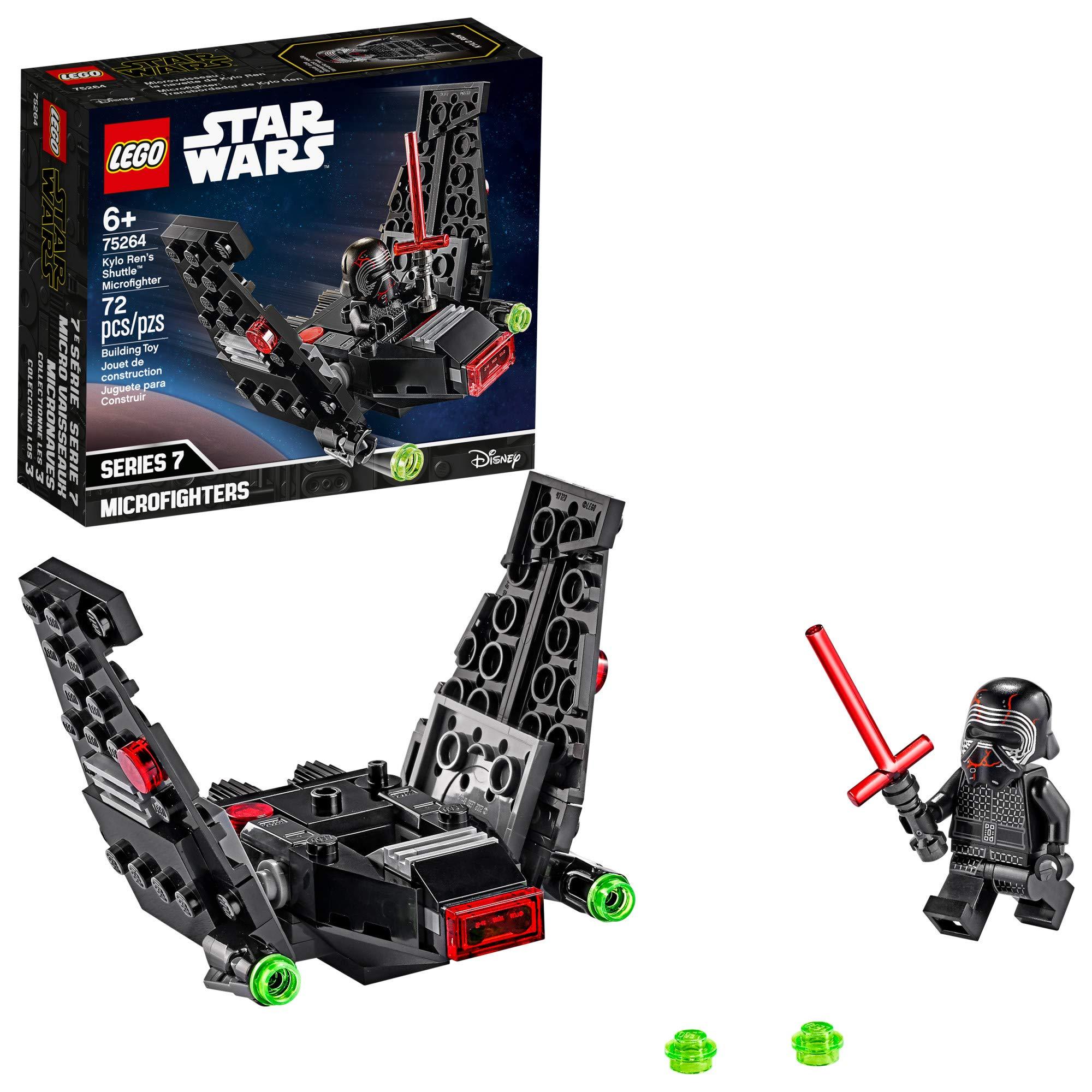 LEGO Star Wars Kylo Ren's Shuttle Microfighter 75264 Star Wars Upsilon Class Shuttle Building Kit, New 2020 (72 Pieces)
