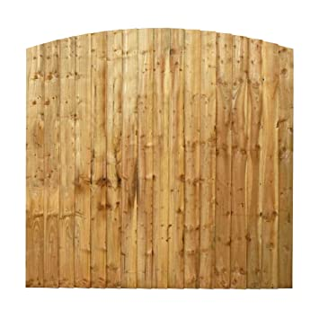waltons est 1878 6x6 wooden fencing panels feather edge curved top
