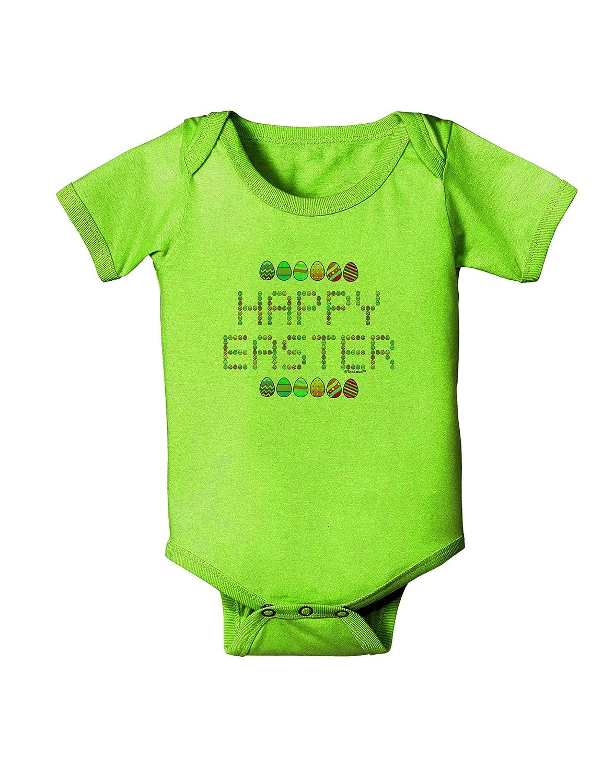 TooLoud Happy Easter Eggs Baby Romper Bodysuit