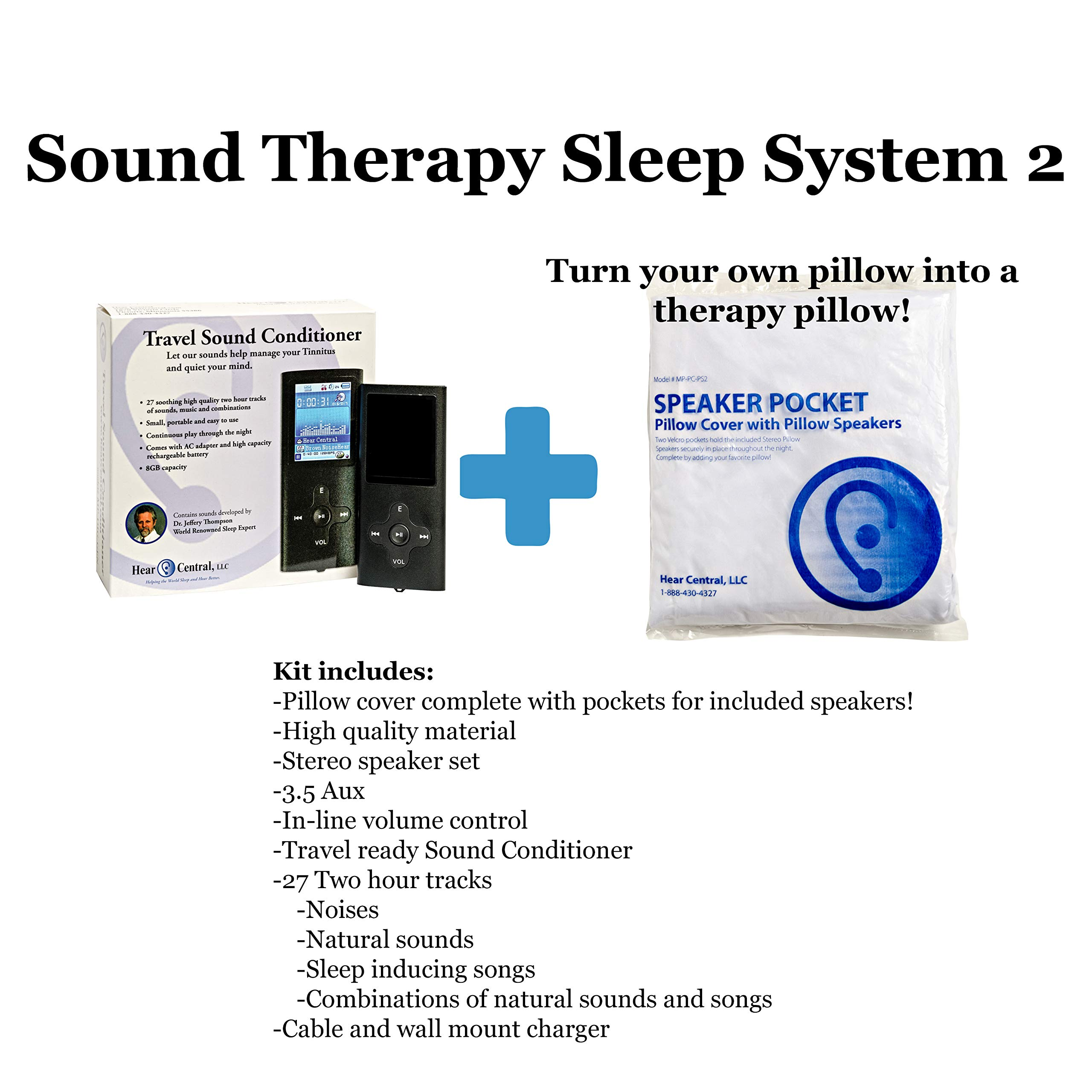 Sound Therapy Sleep System 2 by Hear Central: Sleep Therapy, Tinnitus, Music Therapy, Sound Therapy, Meditation Music, Holistic Healing, Music Health