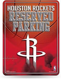 Rico Industries NBA Atlanta Hawks 8-inch by 11-inch Metal Parking Sign Décor