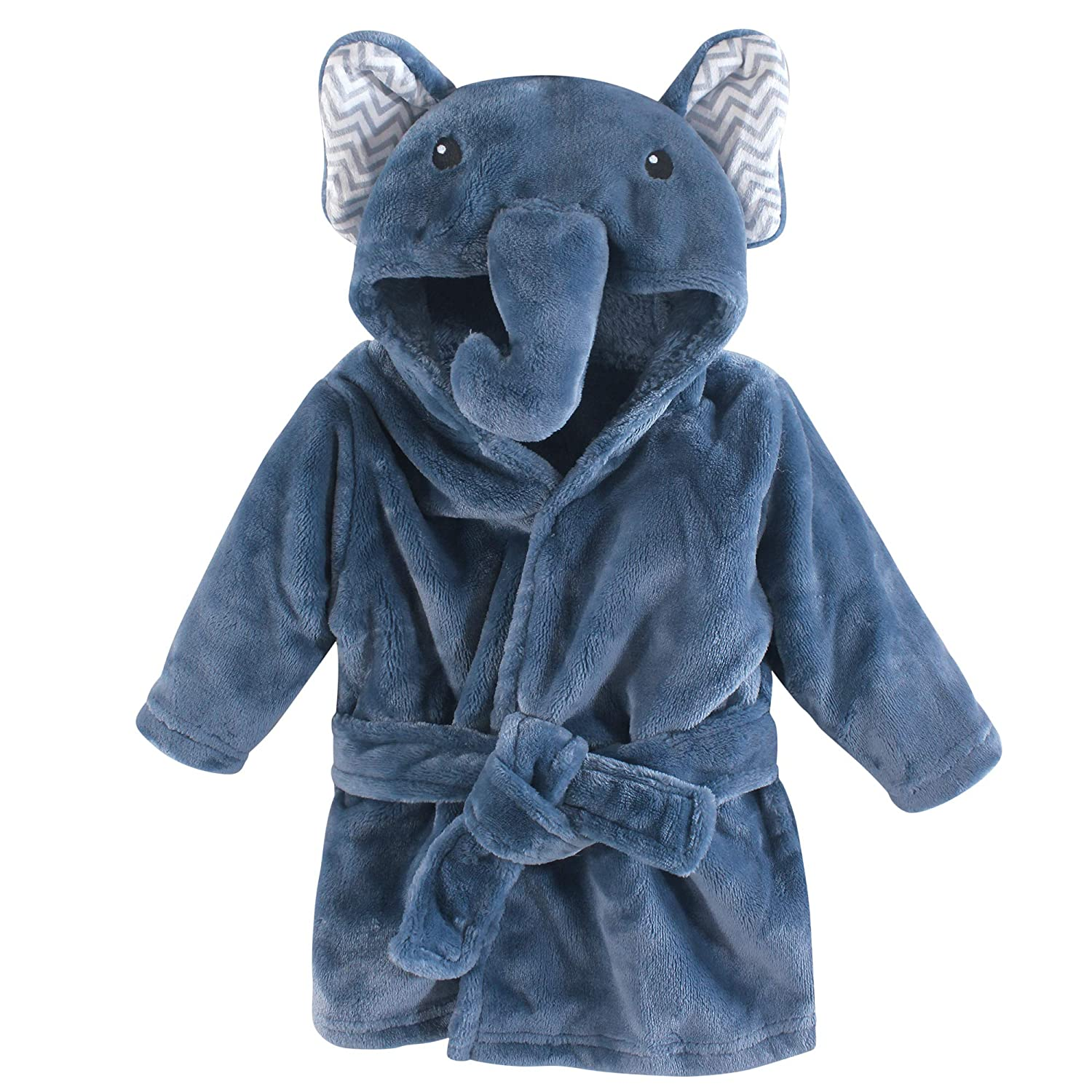 Little Treasure Plush Bathrobe, Blossom Elephant, 0-9 Months BabyVision Inc. Children' s Apparel 74003