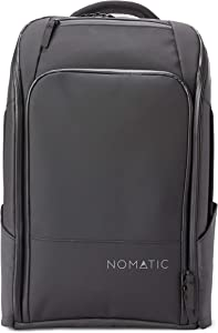 NOMATIC Travel Pack- Black Water Resistant Anti-Theft 30L Flight Approved Carry on Laptop Bag Computer Backpack