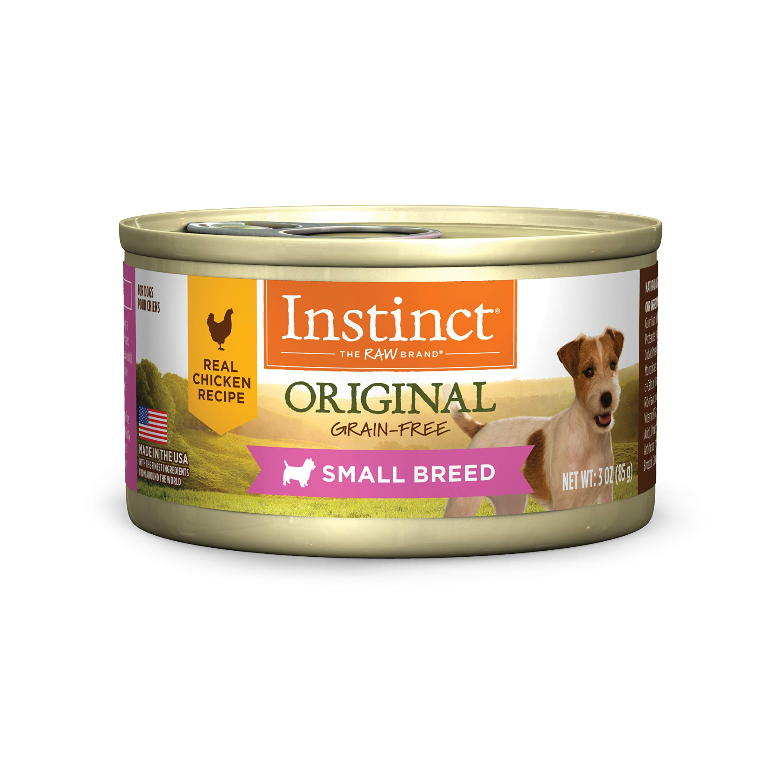 Instinct Original Small Breed Grain Free Real Chicken Recipe Natural Wet Canned Dog Food by Nature's Variety, 3 oz. Cans (Case of 24) by Instinct