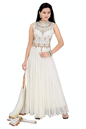 3481b58f81e Gurukripa Beautiful Party Wear Designer Readymade Anarkali Gown Free size  for all Girls   Women for