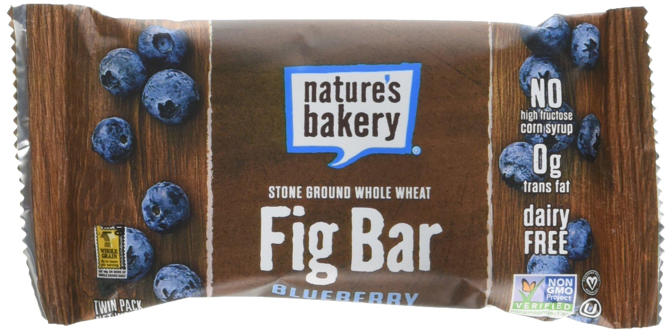 NATURE'S BAKERY, Whole Wheat Fig Bar, Blueberry, Pack of 6, Size 6/2 OZ, (Kosher)