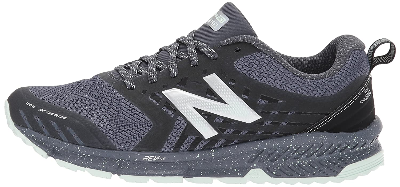 New Balance Women's Nitrel v1 FuelCore Trail Running Shoe B01N5J5B49 5 B(M) US|Grey/Black