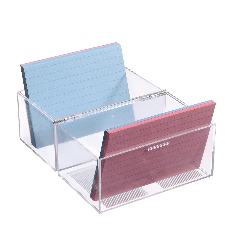 Herlitz 1907021/schedario A7/in plastica per 300/schede colore trasparente