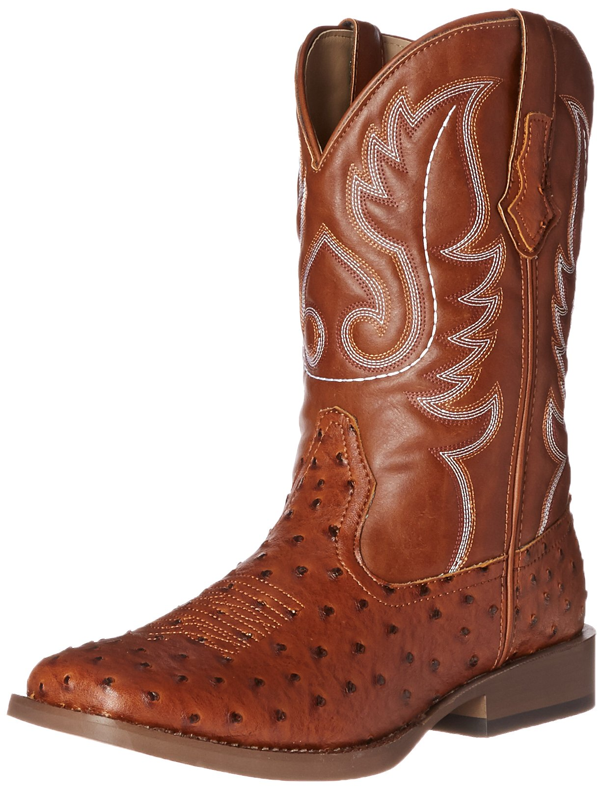 Roper Men's Basic Square Toe Western Boot, Tan, 12 M US