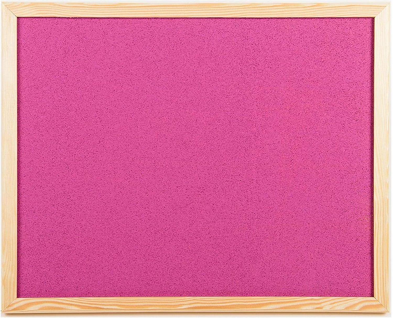 in 2 Gr/ö/ßen erh/ältlich 60 x 40 Pink Pinnwand aus Kork mit Memo-Rahmen