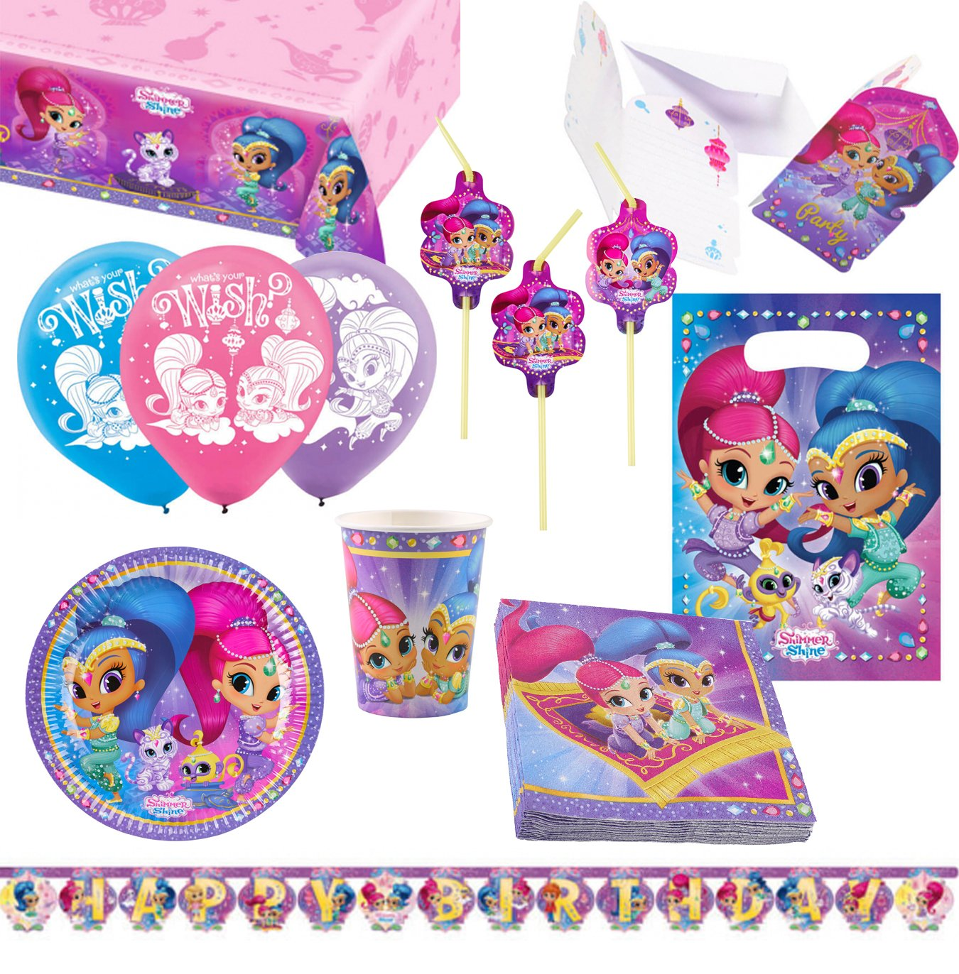 Amscan 9902640 Party Set Shimmer & Shine