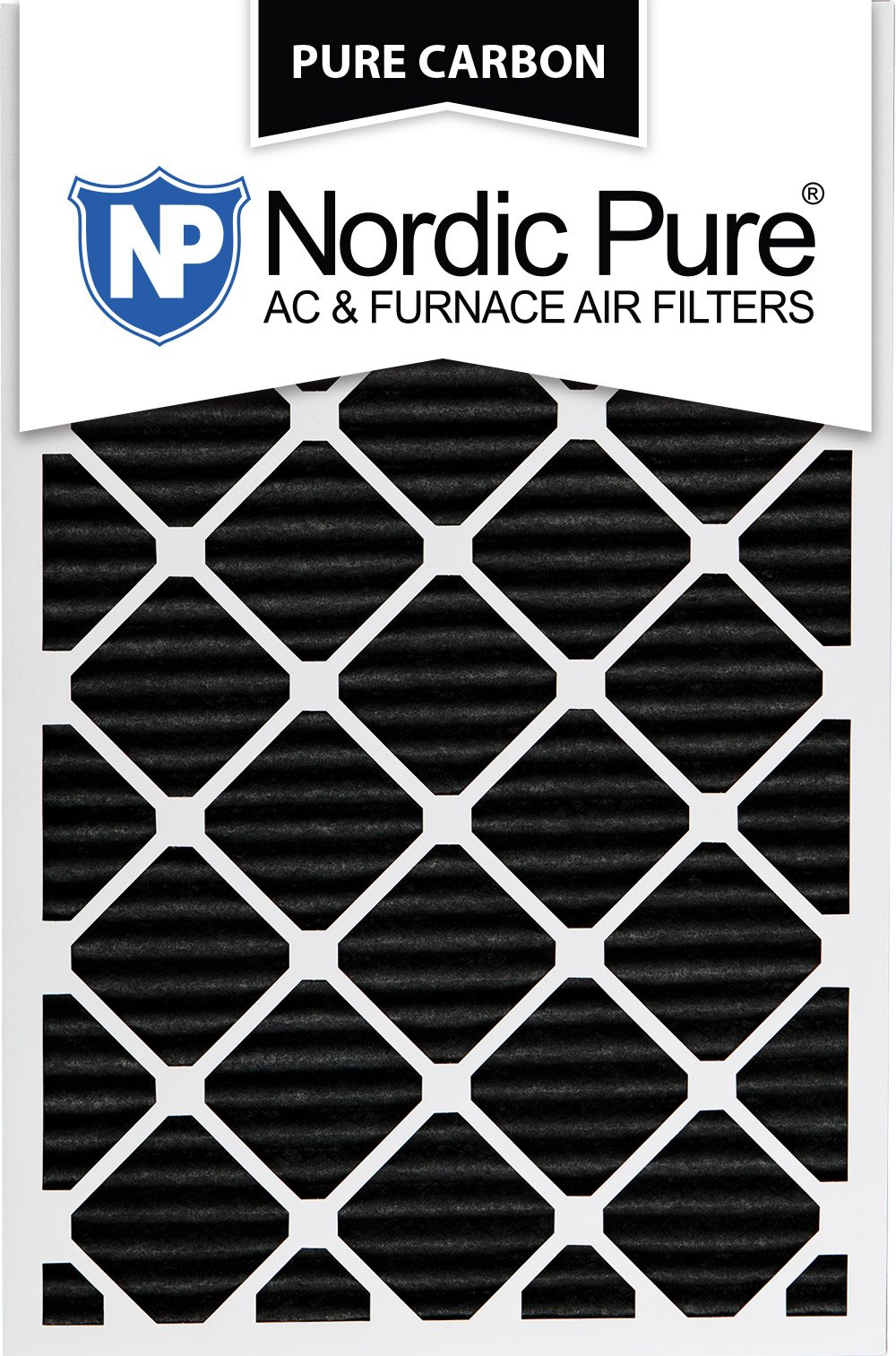 Nordic Pure 16x30x1PCP-3 16x30x1 Pure Carbon Pleated Ac Furnace Filters Qty 3