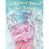 Image for A World of Fairies and Fantasy Coloring Book by Molly Harrison: An adult coloring book featuring beautiful fairies, some angels and more! For grownups and older children