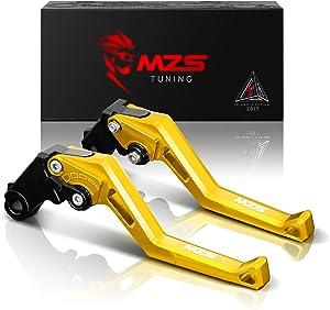 MZS Short Levers Brake Clutch Adjustment CNC for Kawasaki ZX6R ZX636 2007-2018/ ZX10R 2006-2015/ Z750R 2011-2012/ Z1000 2007-2016/ Z1000SX Tourer 2011-2016/ NINJA 1000 2011-2016 Gold