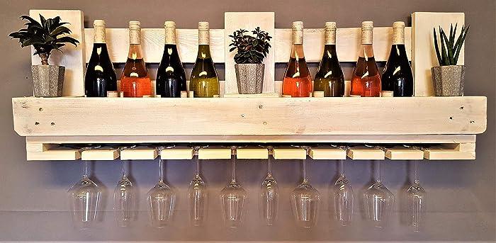 Top Weinregal aus Palette vintage weiß Flaschenregal Weinflaschenregal YS01