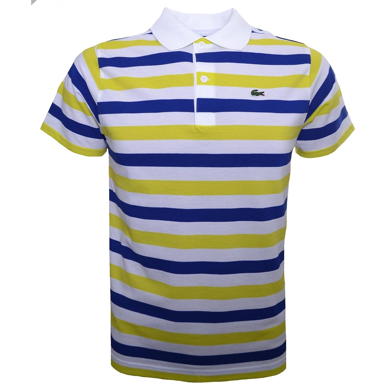 Lacoste - Polo - para bebé niño Blue, Yellow & White 8 Años ...