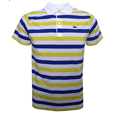 Lacoste - Polo - para bebé niño Blue, Yellow & White 8 Años ...