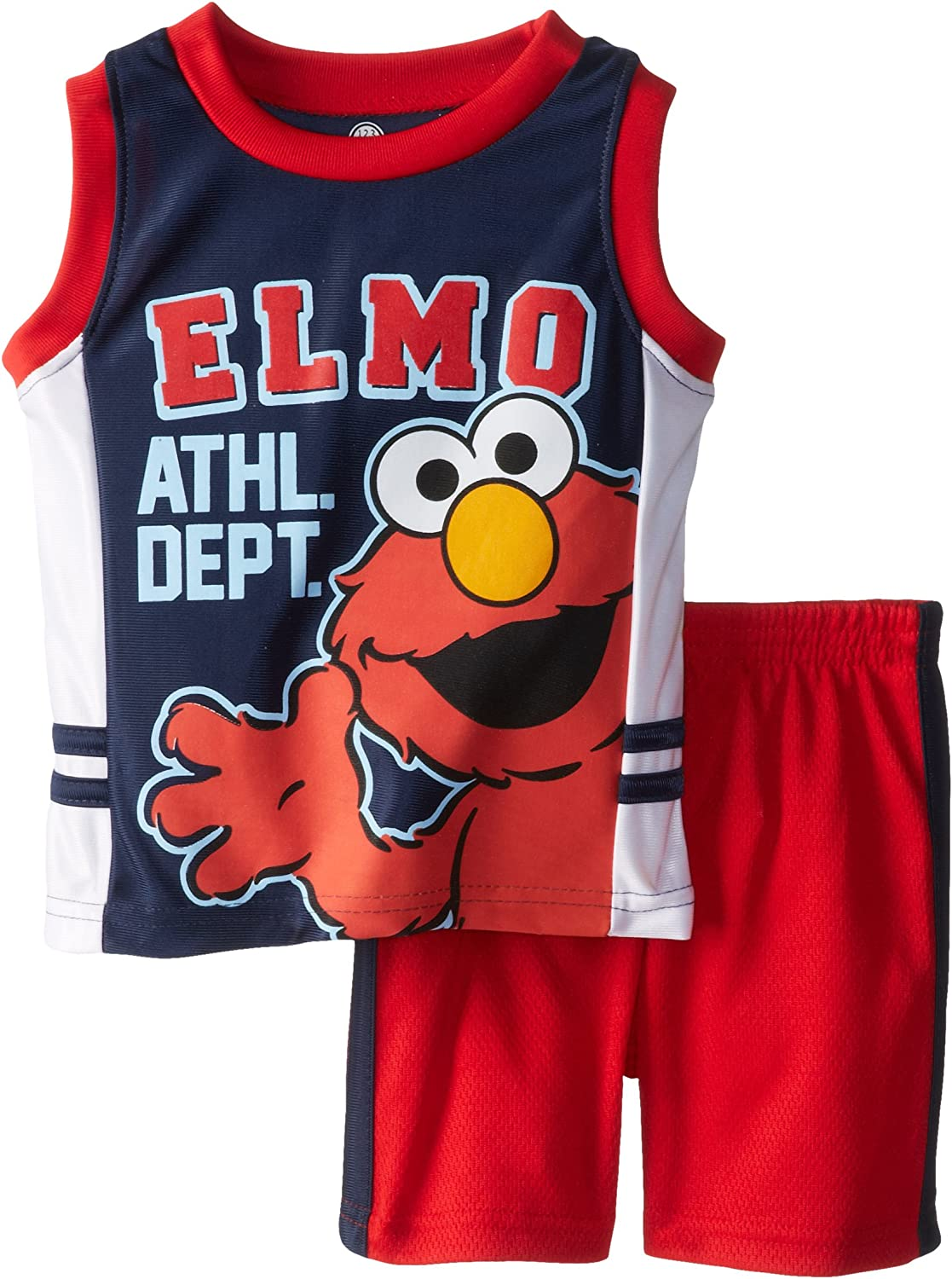 Sesame Street Little Boys 2 Piece Elmo Mesh Short Set