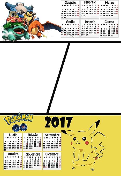 Calendrier Personnalisé 2017 Avec 2 Photos Art396 Pokemon