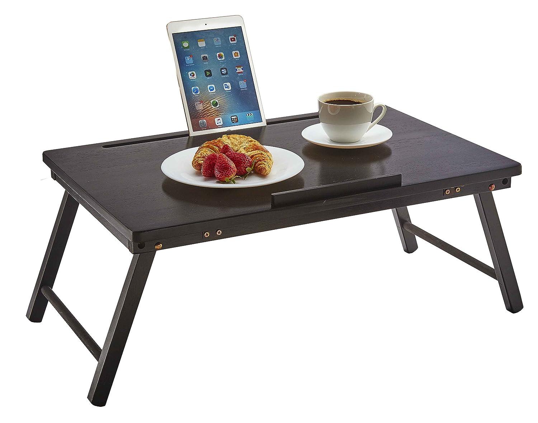 PJ WOOD Plegable portátil Open Top escritorio y cama tabla de la ...