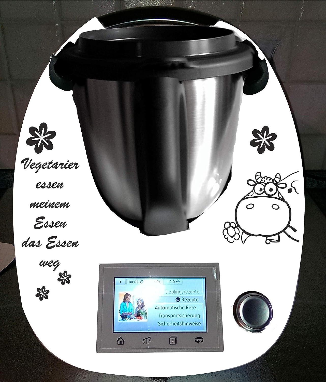 Grafix - Adhesivo decorativo para Thermomix TM 5 y TM 6, diseño de vaca vegetariana: Amazon.es: Hogar