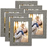 TWING Rustic Farmhouse Picture Frames 5 by 7 Picture Frames Distressed Wood Pattern High Definition Plexiglass Photos…