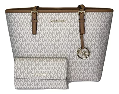 1580d6cbe2f3 Image Unavailable. Image not available for. Color: MICHAEL Michael Kors Jet  Set Travel MD Carryall ...