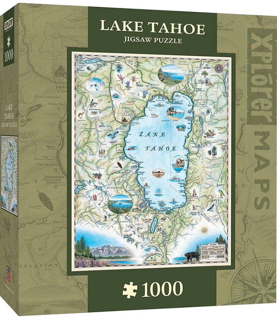 Amazon.com: MasterPieces Xplorer San Francisco Bay Map 1000 Piece ...