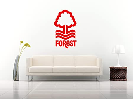 Nottingham forest football logo emblem crest vinyl sticker decal mural transfer stencil wall art
