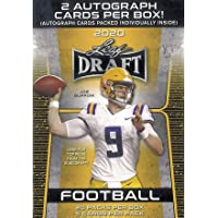 $49 » NEW 2020 Leaf Draft Football Blaster Box - TWO AUTOGRAPHS PER BOX - 100 Total Cards (20 Packs/5 Cards Per Pack) - Find JOE BURROW…