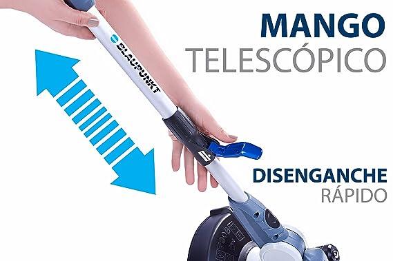 BLAUPUNKT Cortabordes Eléctrico GT4000 - 27cm de Mango Telescópico - Alta Potencia 550W AC - 2 en 1 Recortabordes y Bordeador - Doble Hilo
