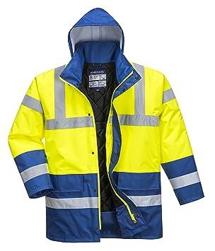 Portwest S466 - Contraste de la chaqueta de tráfico, color, talla 3 XL