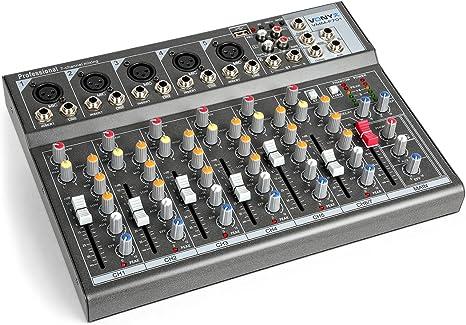 Vonyx VMM-F701 Mesa de mezclas 5 Entradas mono de línea y ...