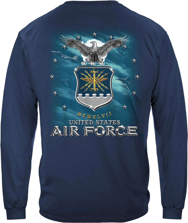 Erazor Bits air Force Shirt   Air Force USAF Missle Long Sleeve T Shirt MM147LS