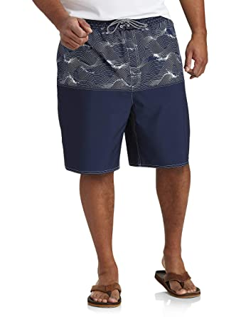 6b31d97e8ded5 Rochester by DXL Big and Tall Patterned Swim Trunks | Amazon.com