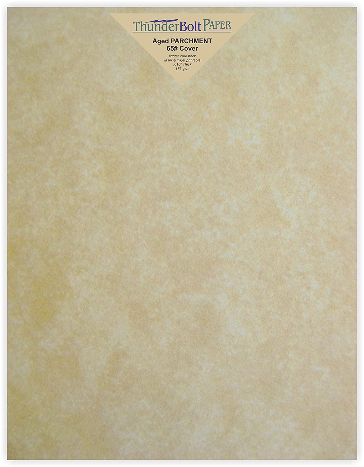 100 Old Age Parchment 65lb Cover Paper Sheets 8.5 X 11 Inches Cardstock Weight Colored Sheets 8.5